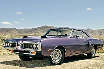 Amazon Com Dodge Coronet R T 1970 Old Retro Muscle Car Poster 36x24