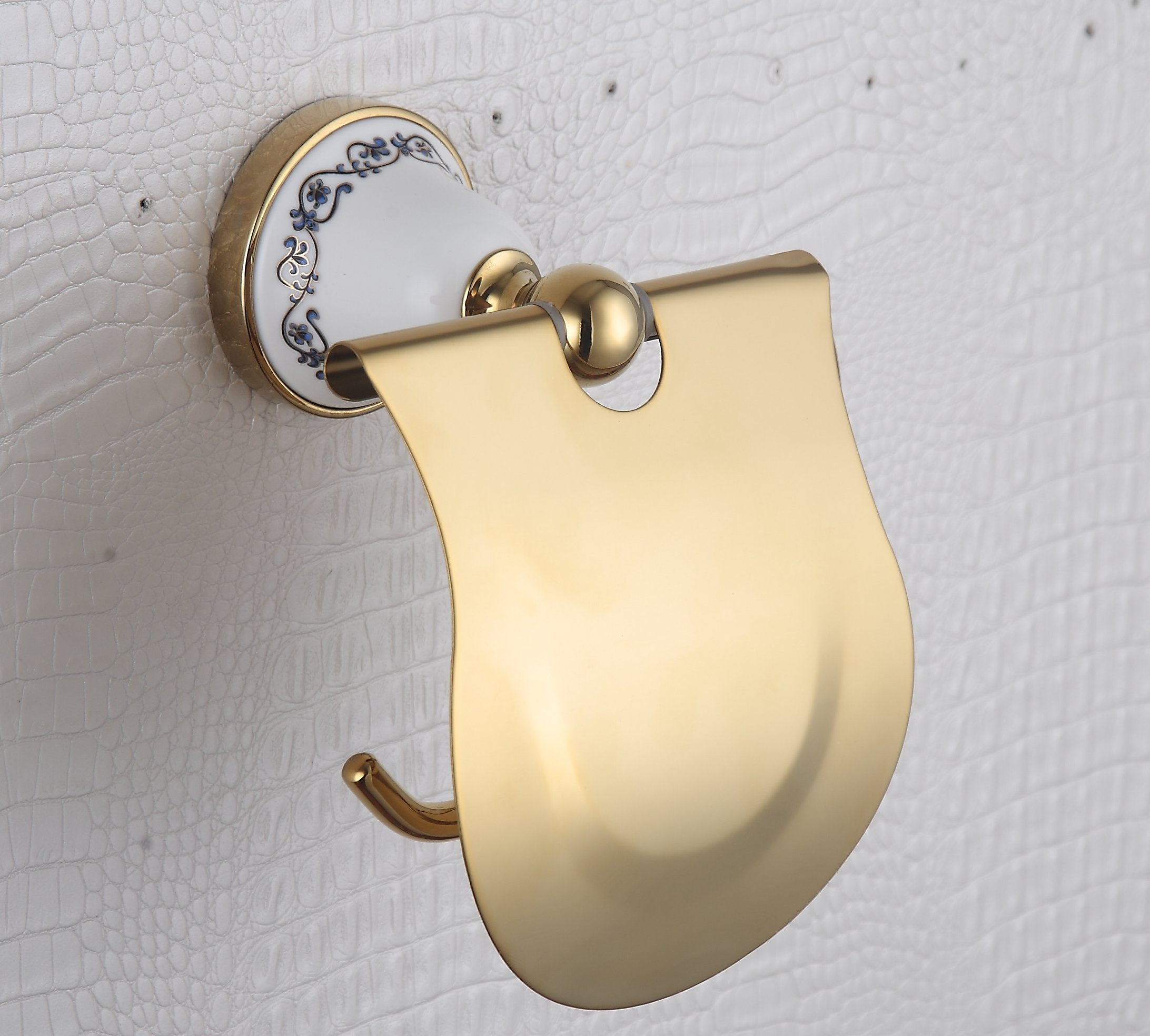 Cloud Power Porcelain Decorated Brass Toilet Paper Holders With Titanium Wall-mounted