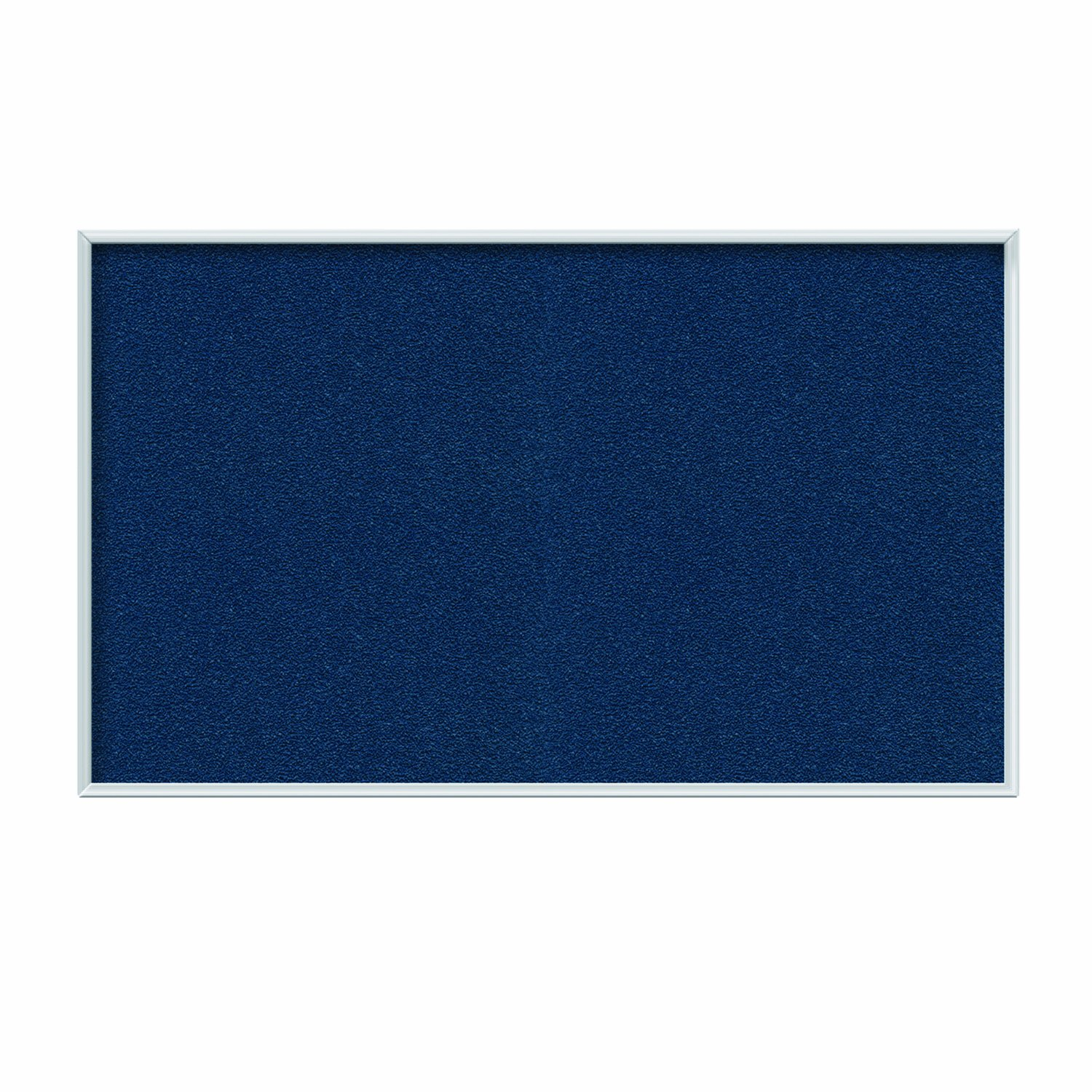 Ghent Navy Vinyl Bulletin Board, 48.5'' x 72.5'', Aluminum Frame, Made in the USA