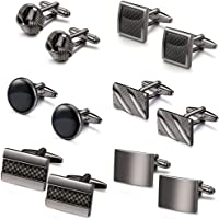 LOLIAS 6 Pairs Mens Cufflinks Set Classic Wedding Unique Cufflink for Tuxedo Shirts Formal Business Shirts
