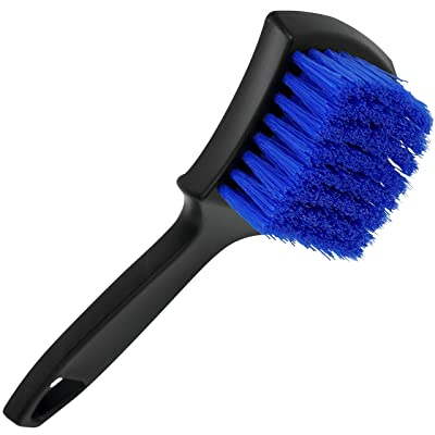VIKING Carpet and Upholstery Cleaning Brush, Scrub Brush for Car Interior, Home, Couch, Stain Remover, Black/Blue: Automotive