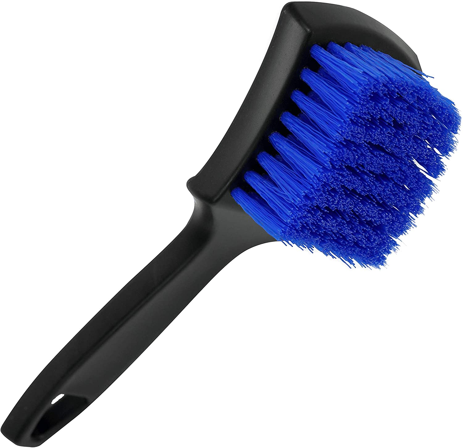 VIKING Carpet and Upholstery Cleaning Brush, Scrub Brush for Car Interior, Home, Couch, Stain Remover, Black/Blue