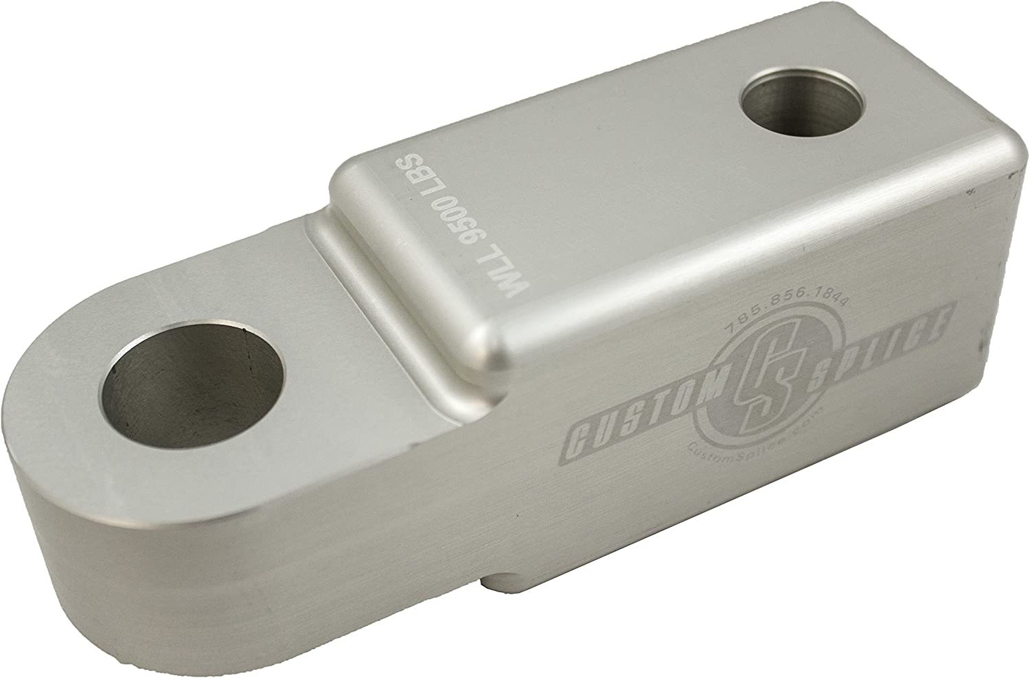 Silver Custom Splice 2 inch Shackle Hitch Receiver Adapter