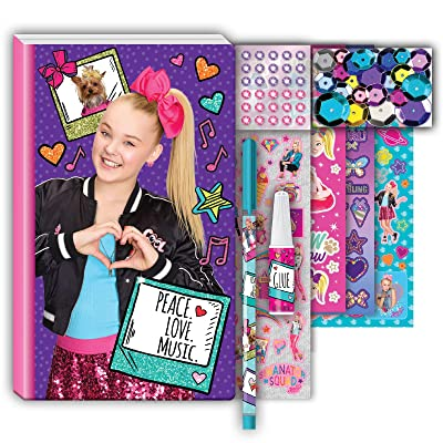 JoJo Siwa Nickelodeon Journal Set for Girls with Pen and Stickers: Toys & Games