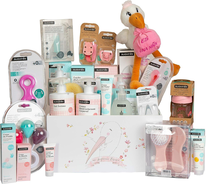 Suavinex Canastilla Baby Shower para Bebé y Mamá (Rosa): Amazon.es: Bebé