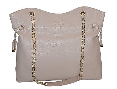 4c0664e1816b Amazon.com: Tory Burch Handbag Leather Bombe Slouchy Women's Tote ...