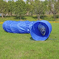 Ohana Pet XXL Activity Dog Agility Tunnel Equipment Puppy Training Obedience Toy Play Exercise Outdoor Cat Kitten