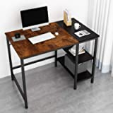 JOISCOPE Computer Desk,Latop Table,Study Table with Wooden Shelves,Industrial Table Made of Wood and Metal.40 inches…