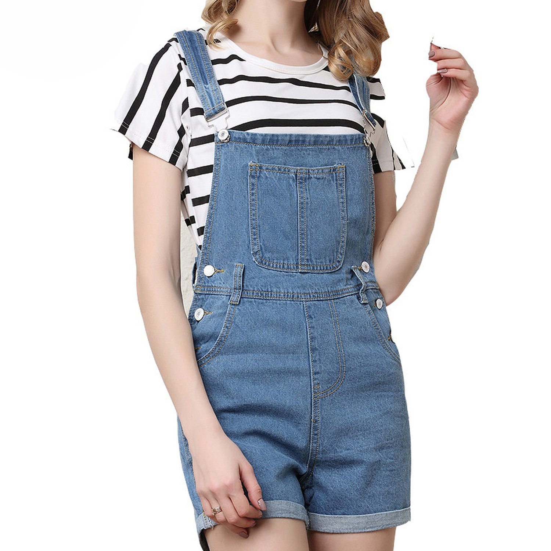 Habitaen Summer Shorts Jeans Women Strap Fine Pocket Short Wind Women Shorts,Wangs904,XL