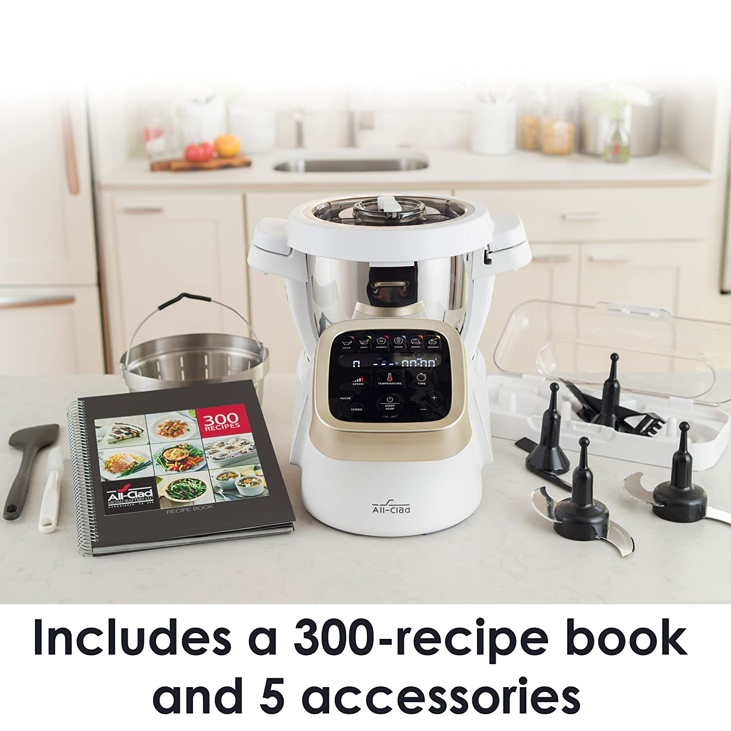 Amazon all clad hp503152 prepcook cooking food processor amazon all clad hp503152 prepcook cooking food processor 47 quart white kitchen dining forumfinder Choice Image
