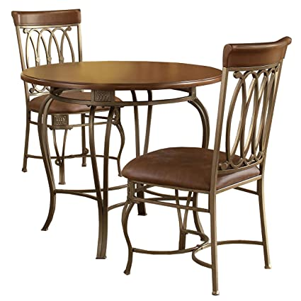 Svitlife Furniture Montello Old Steel 3-Piece Dining Set Dining Set Table Antique  Chairs Room - Amazon.com - Svitlife Furniture Montello Old Steel 3-Piece Dining