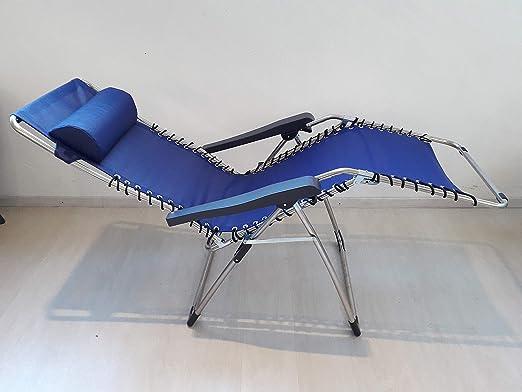 Poltrone Relax Made In Italy.Poltrona Sdraio Relax Con Telaio In Alluminio Con Tessuto In