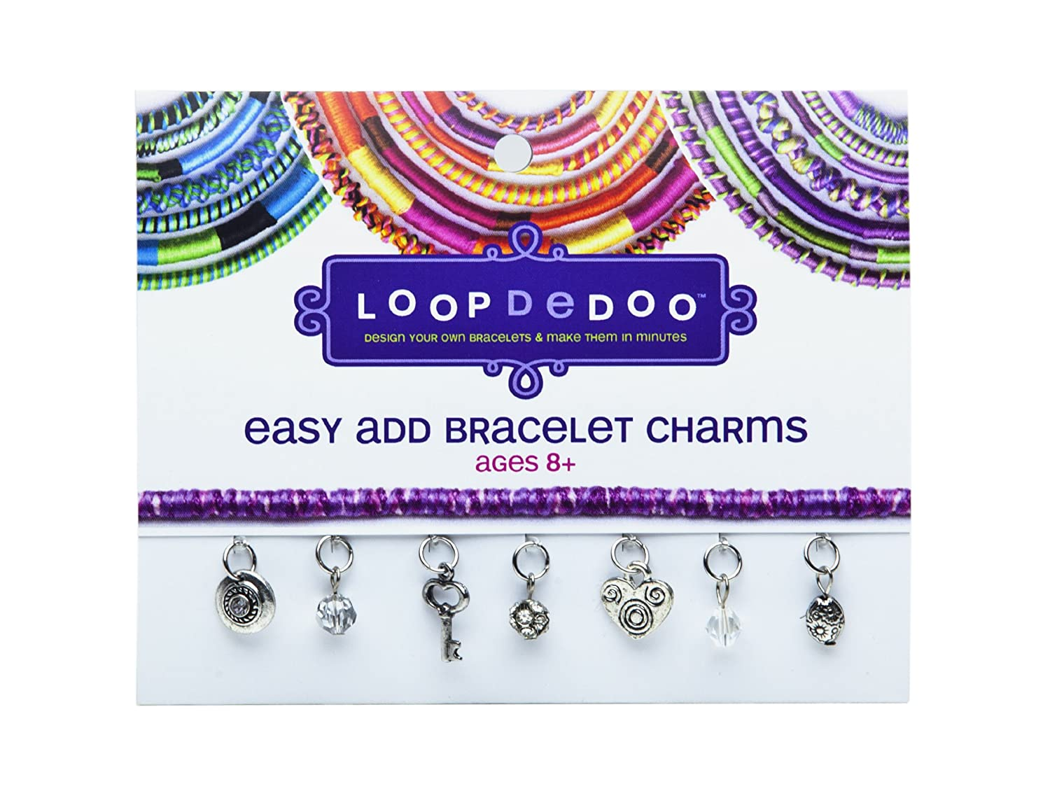 amazoncom loopdedoo easy add bracelet charms key to my heart toys u0026 games