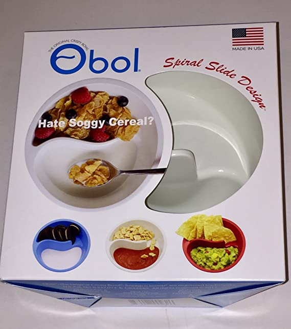 Obol the original never soggy cereal bowl with the spiral slide obol the original never soggy cereal bowl with the spiral slide design n grip med wht amazon kitchen home ccuart Choice Image