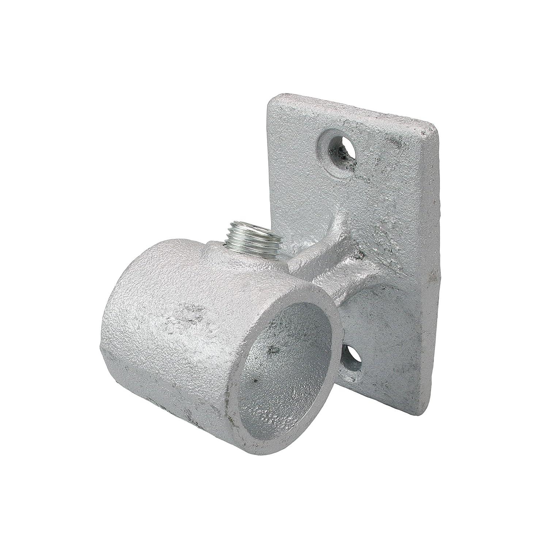 Gardinenstange silber Tr/äger f/ür Wand oder Decke Rohr 28 mm /Ø Industrielook 1 St/ück Metall