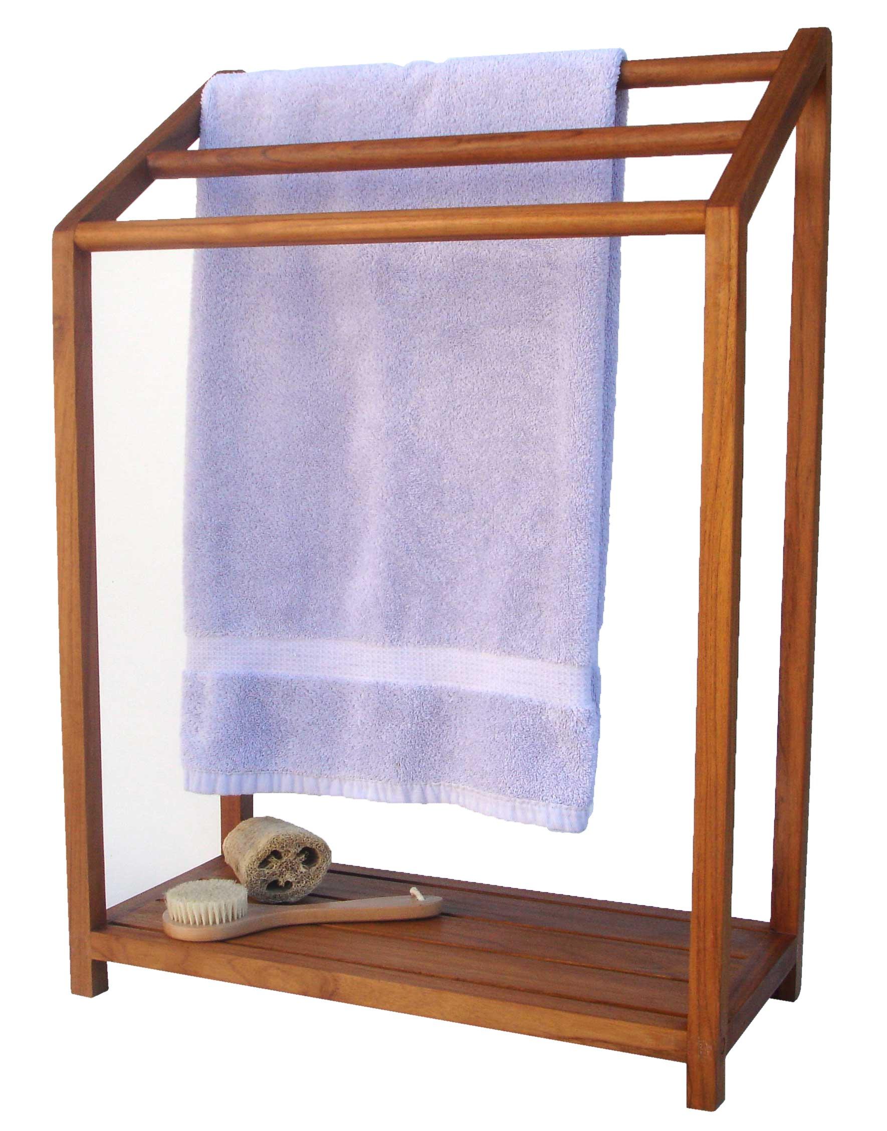 AquaTeak Scratch & Dent - The Original Sula Versatile Teak Towel Rack