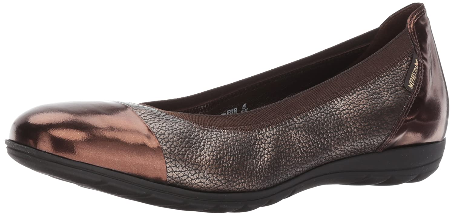 Mephisto Women's Elettra Ballet Flat B06XCPMZ1B 9.5 B(M) US|Dark Brown Magic/Copper Ceylan