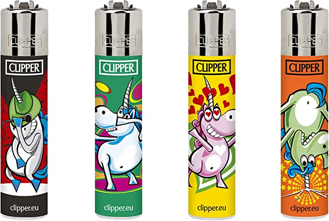 Clipper 45, unicornio – Mini colección, pack de 4 encendedores: Amazon.es: Jardín