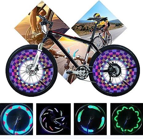 Yunjiadodo - 2 Luces LED para radios de Bicicleta, 14 ledes ...