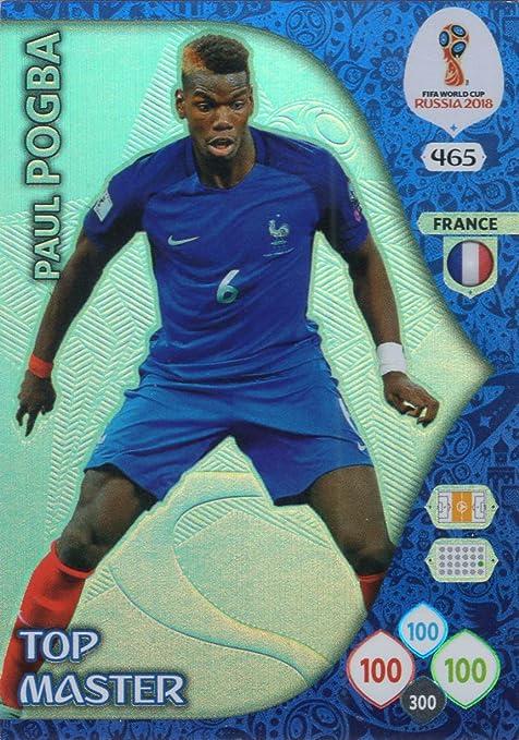 Adrenalyn XL FIFA World Cup 2018 Rusia – Paul Pogba Top Master Trading Card – Francia # 465: Amazon.es: Deportes y aire libre