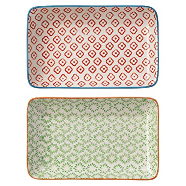 Bloomingville Accent Plates Emma Set of 2 Styles green/red