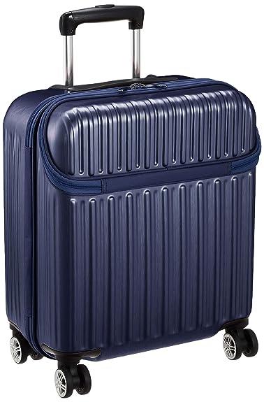 e8c224a33c911f Amazon | [アクタス] スーツケース ジッパー トップオープン 機内持ち込み可 74-30510 【Amazon.co.jp限定】 40L  50 cm 3kg ネイビーヘアライン | スーツケース
