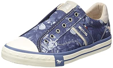 MUSTANG Women's Low Sneaker Blue