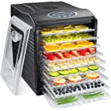 Ivation 9 Tray Countertop Digital Food Dehydrator Drying Machine 600w with Preset Temperature Settings, Auto Shutoff…