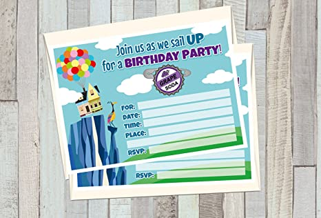 Amazon 12 GRAPE SODA UP Birthday Invitations