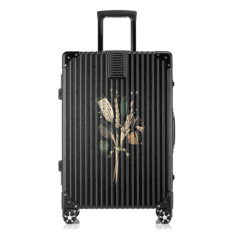 GSHCJ スーツケース きれいなコウシンバラの花束 キャリーケース 20インチ おしゃれ ブラック Tsaロック搭載 プリント ハード 超軽量 軽い 機内持込 ロックファスナー 旅行 ビジネス 出張 海外 修学旅行 丈夫 便利 レディース メンズ 学生 B07RX7LFS7
