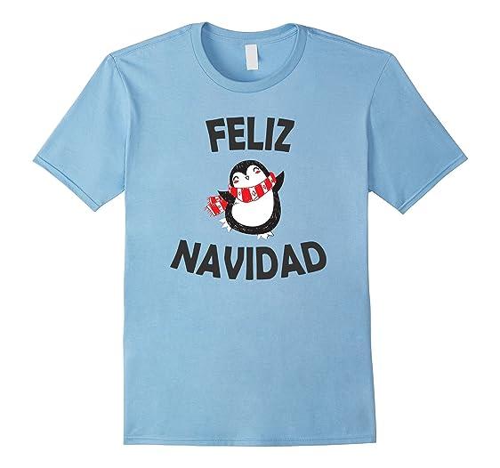 Mens Camiseta Feliz Navidad Hombre Caballero Mujer Dama 2XL Baby Blue