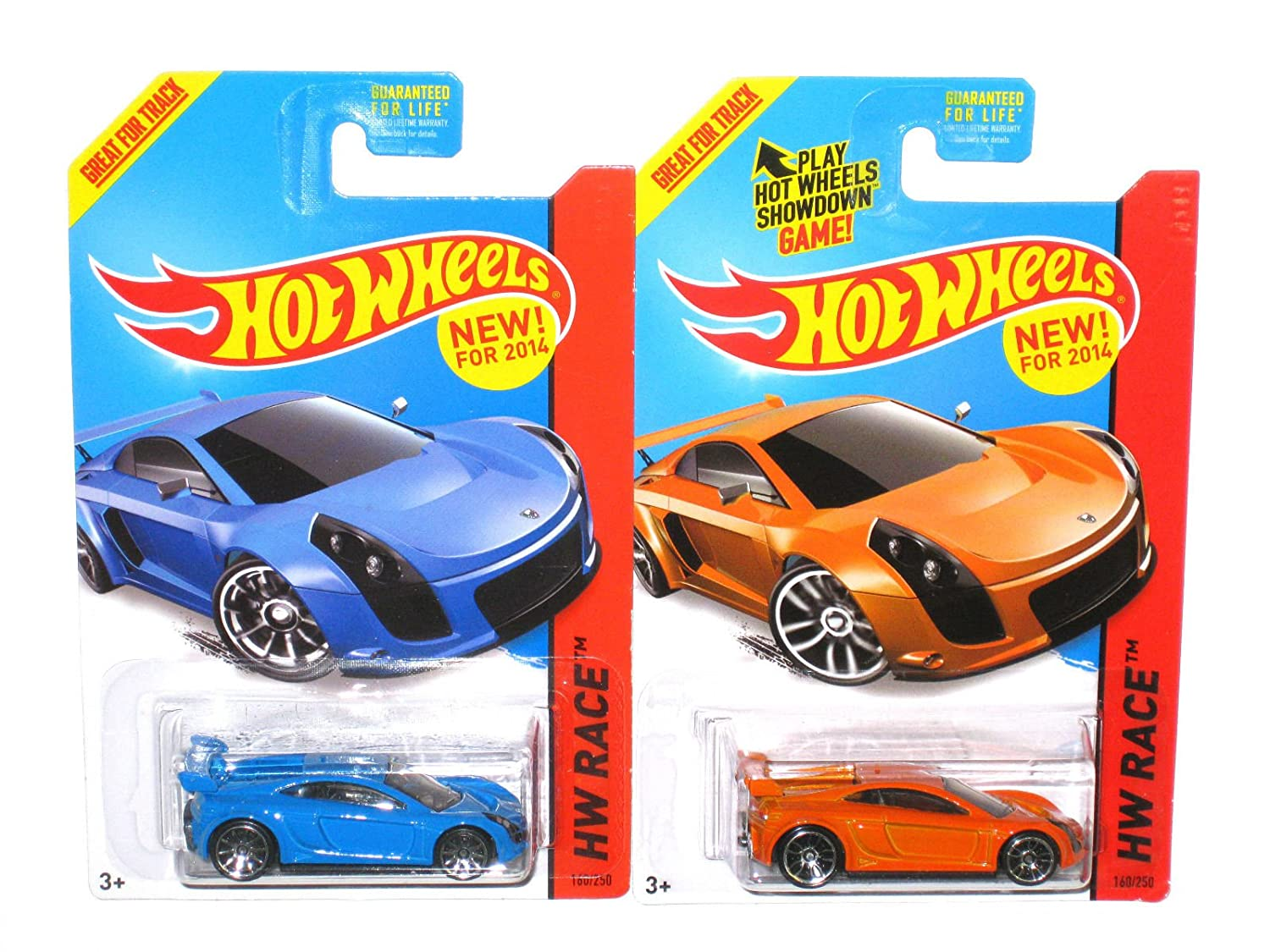 Hot Wheels 2 MASTRETTA MXR lot of Blau 2  Blau of and Orange version  by Mattel fcfb6d