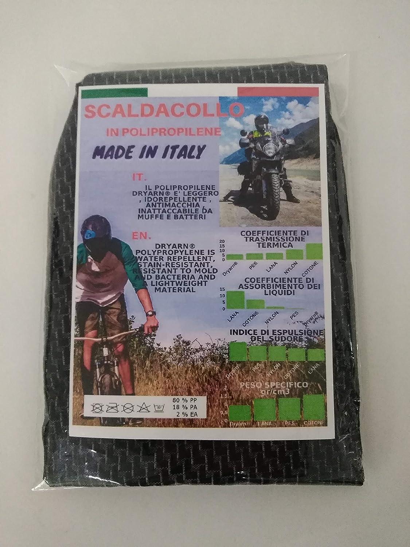 Scaldacollo Tubo Collo Tecnico 100/% Made in Italy in Polipropilene Traspirante TERMOREGOLATORE Ideale X Sport Ciclismo Moto