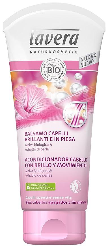 Lavera Acondicionador para Cabello con Brillo y Movimiento - malva biológica y extracto de perlas -