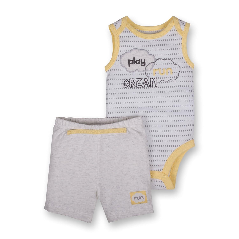 Lamaze Baby Organic 2 Piece Bodysuit Short Set LA1303333I18
