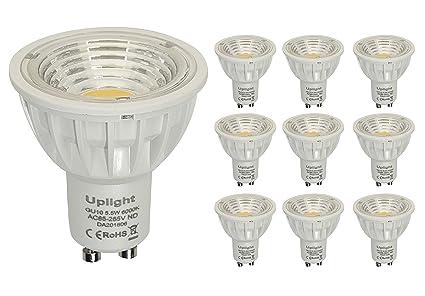5.5W No Regulable GU10 LED Bombillas Equivalente 50-60W Bombillas de Halógeno 6000K Blanco