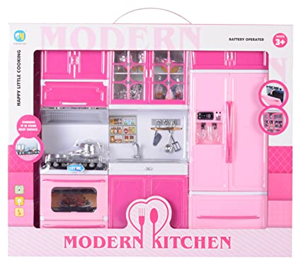 Magic Pitara Modern Kitchen Set Pink