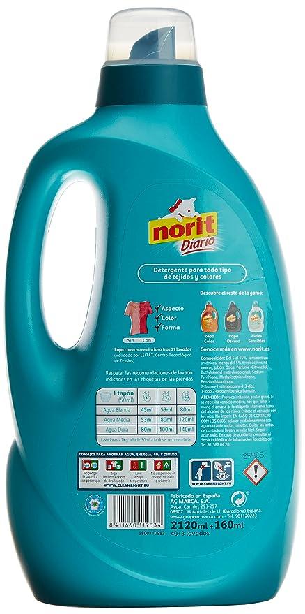 Norit - Detergente Diario Toda la Ropa, Todo Tipo de Tejidos y Colores - 2650 ml: Amazon.es: Salud y cuidado personal