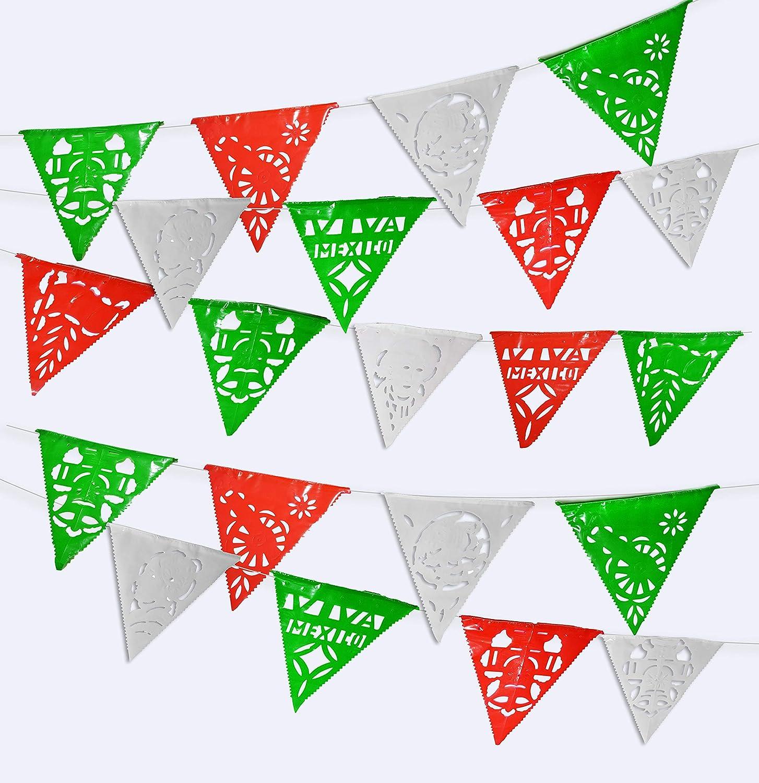 Picado De Papel Mini Flag Banner ~ Spanish Mexican Party Decoration Supplies