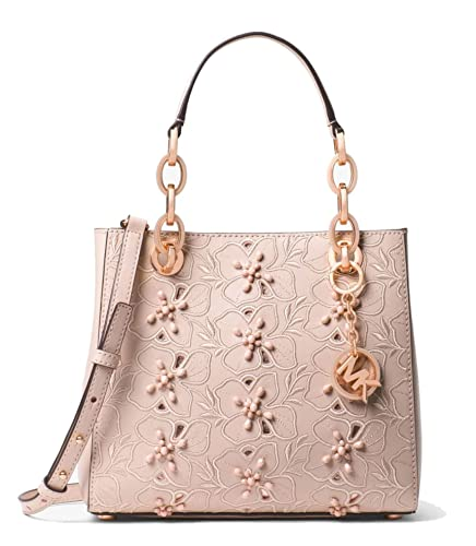a875f71a9ef0 MICHAEL Michael Kors Cynthia Small Floral Embroidered Leather Satchel Bag