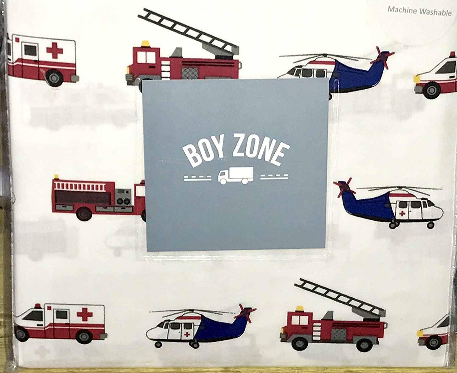 100% cotton - emergency vehicles TWIN Sheet Set (ambulance, police car, fire engine, helicopter)