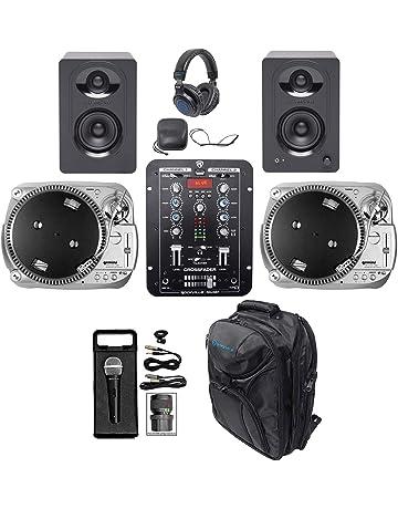 DJ Package w/ (2) Gemini USB Turntables+Mixer+Mic+Backpack