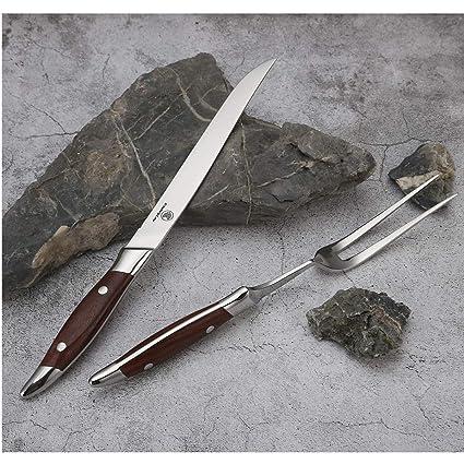 Amazon.com: ENNSUN Juego de horquilla y cuchillo de 2 piezas ...
