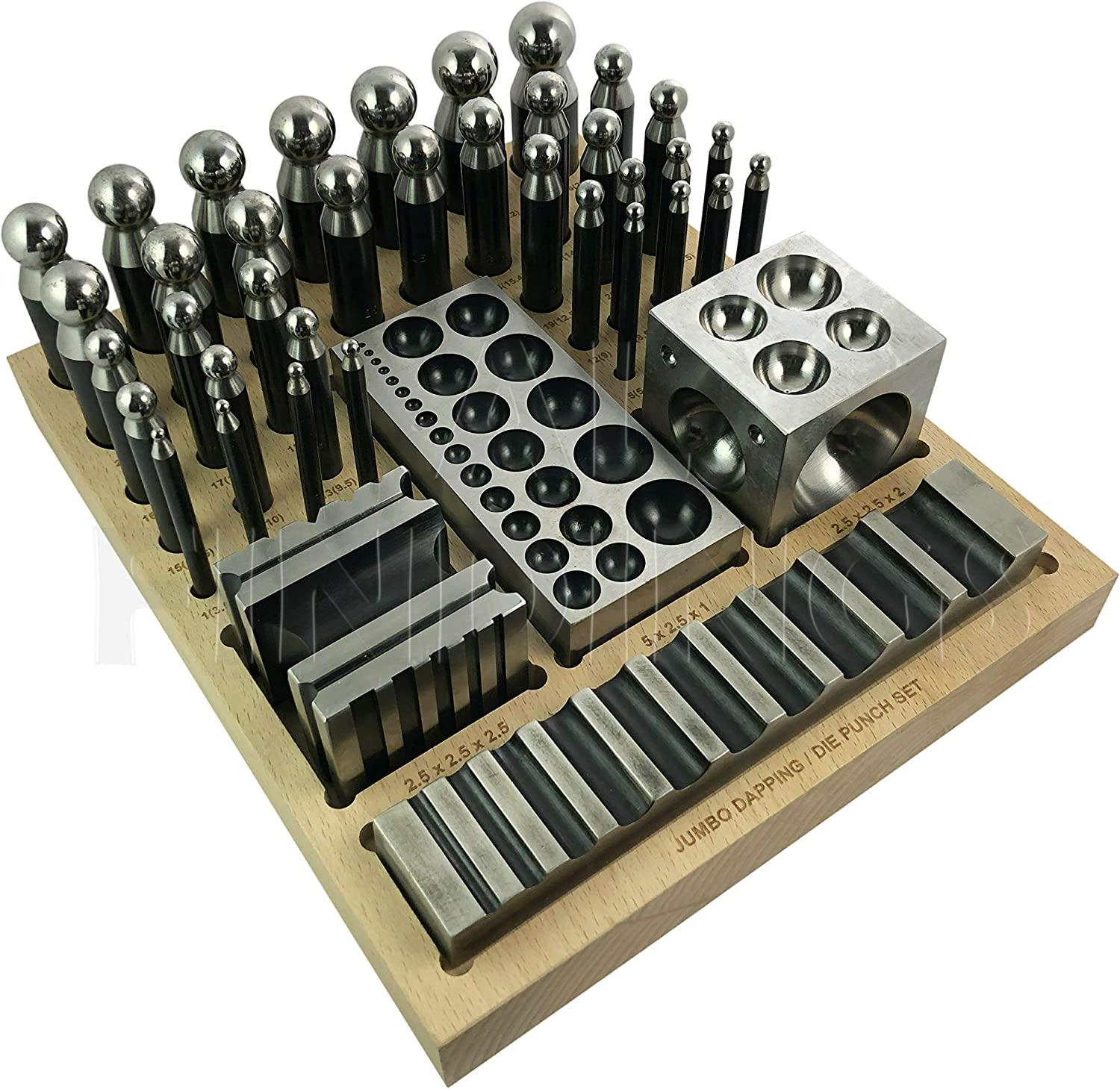 40 pc Jumbo Doming Block and Punch Set made of Steel Dapping Die Jewellers Tool