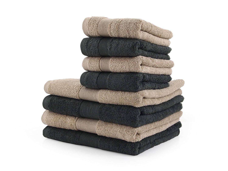 tavoletta profumo biancheria per armadi by biancocasa ASFALTO e CORDA SET asciugamano 8 PEZZI Zucchi HOME FASHION Var