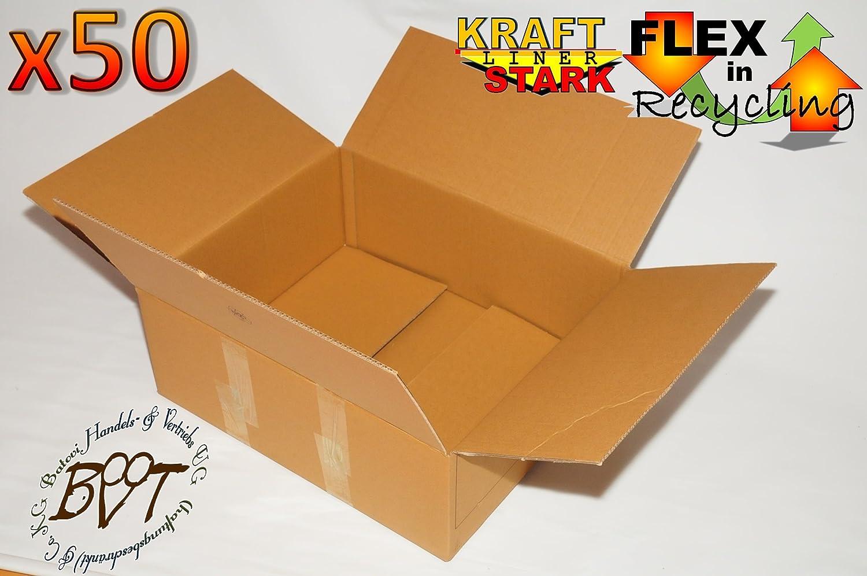 50 x Cajas como Mudanza Cartón, aprox. 600 x 450 mm, cajas de cartón XXL 61,5 largo x 44,7 de ancho x 23,5 cm de alto, cartón de almacenamiento parte de cartón