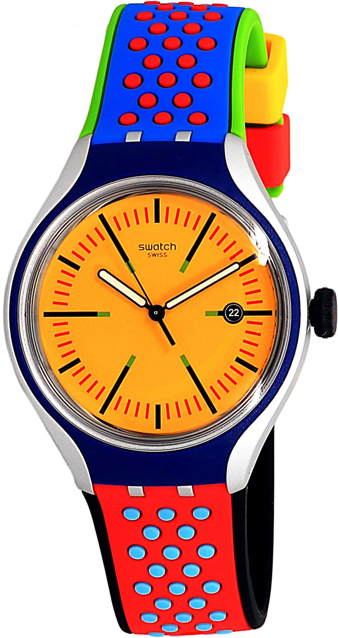 Swatch Men's Amarelho YES4015 Yellow Rubber Swiss Quartz Fashion Watch