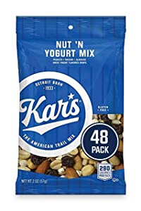 Kar's Nut 'N Yogurt Trail Mix Snacks - Bulk Pack of 2 oz Individual Packs (Pack of 48)