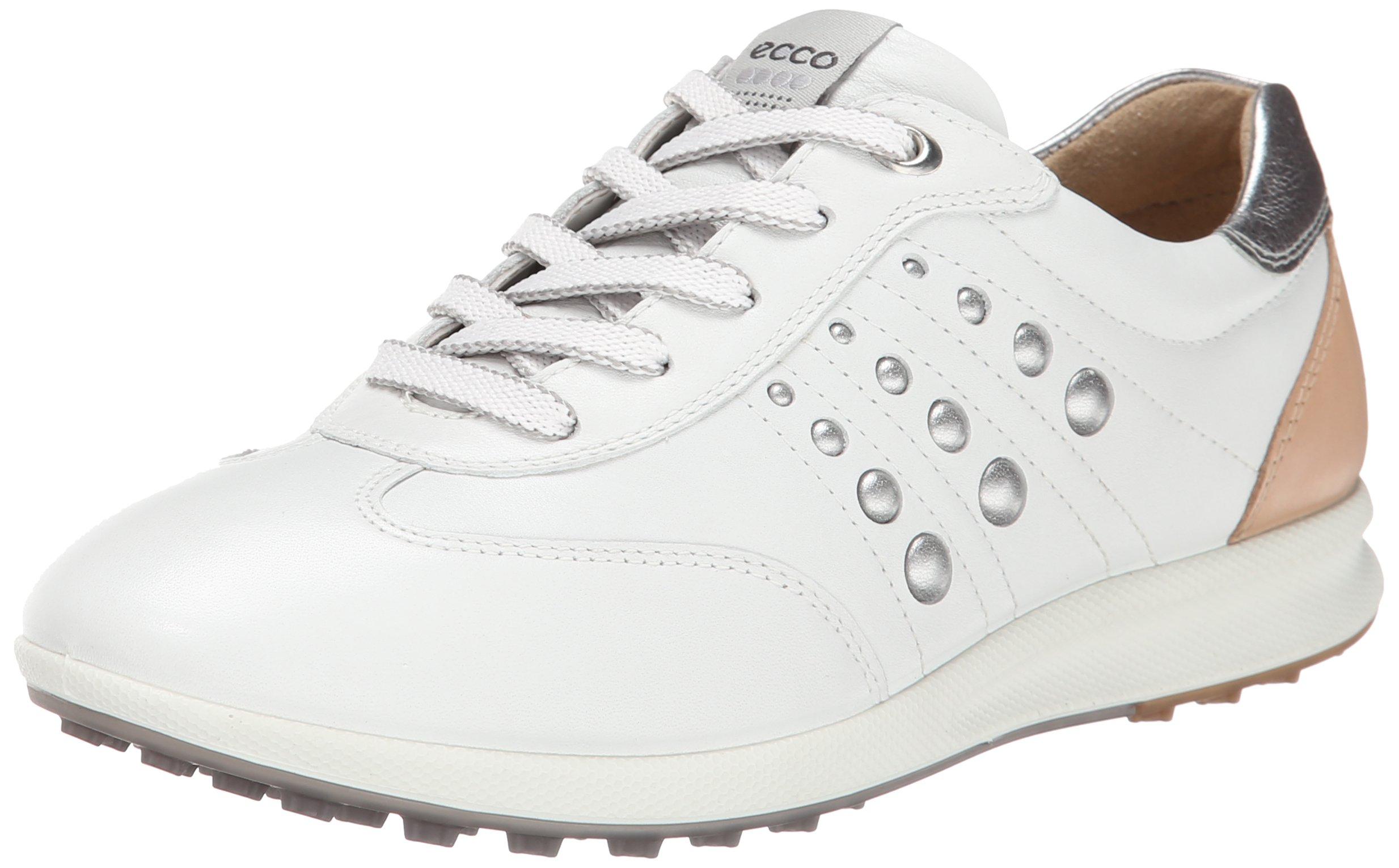 ECCO Women's Street EVO One Luxe Golf Shoe,White/Mineral,40 EU/9-9.5 M US