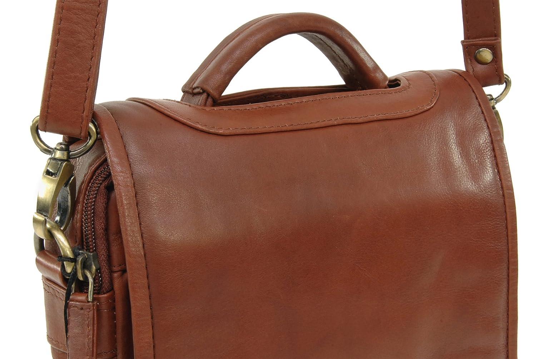 Visconti Organiseringshandväska – Atlantiskt läder– slitstark/axel/korskropp/klaff over/business/kontor/arbetsväska/fritid – 1603 – grace – sand BRUN